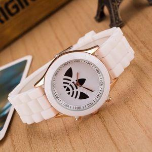 Unisex Trefoil White Sports Fashion Watch